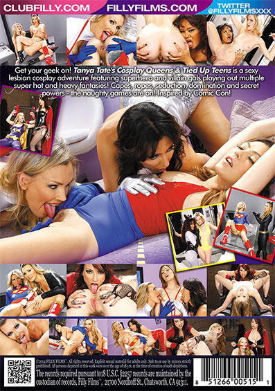 Cosplay Queens & Tied Up Teens DVD back cover