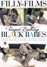 Tongue Bathing Black Babes - Front Cover